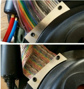 GBI Ribbon Cable on top. GBII Ribbon Cable on bototm.